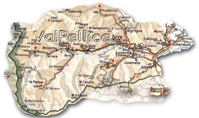 Cartina Val Pellice